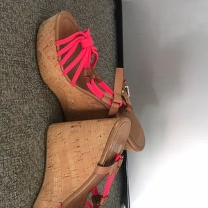 Coach Shoes - Coach wedge platform sandals hot pink